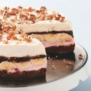 Banana Split Brownie Cake Recipe
