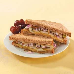 Swiss Pear Sandwiches Recipe