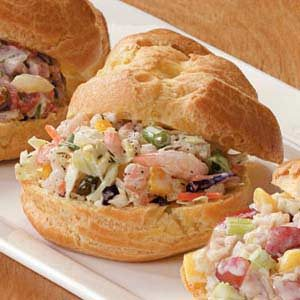 Shrimp 'n' Slaw Puffs Recipe