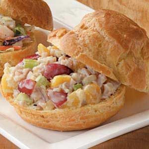 Turkey Salad Puffs Recipe