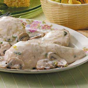 Chicken in Mushroom Sauce for Four