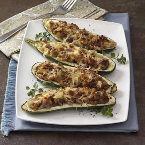 Stuffed Grilled Zucchini Recipe