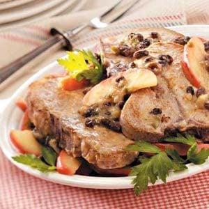 Apple-Raisin Pork Chops Recipe