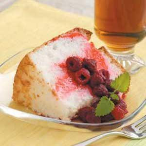 Raspberry Angel Cake Recipe