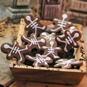 Chocolate Skeleton Cookies Recipe