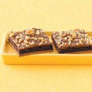 Fudge-Filled Brownie Bars Recipe