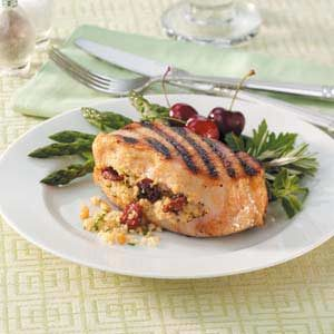 Cherry-Stuffed Pork Chops Recipe
