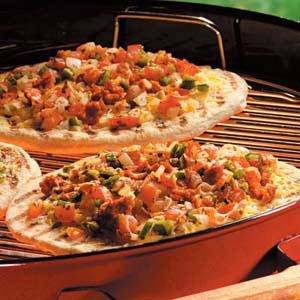 Salsa Chorizo Pizzas Recipe