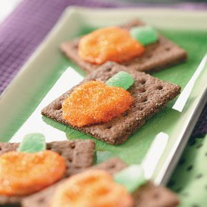 Pretzel Pumpkin Grahams Recipe