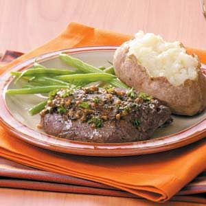 Saucy Tenderloin Skillet Steaks Recipe