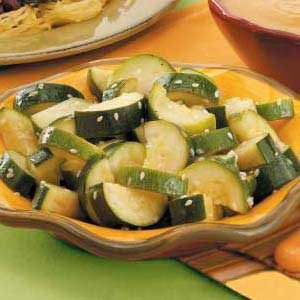 Sesame Steamed Zucchini Recipe