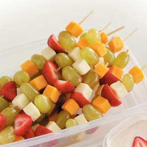 Fruit and Cheese Kabobs Recipe