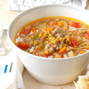 Sausage Lentil Soup Recipe