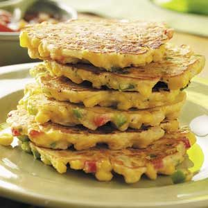 Calico Corn Cakes Recipe