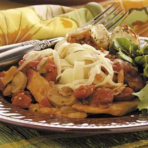 Chicken Chili Fettuccine Recipe