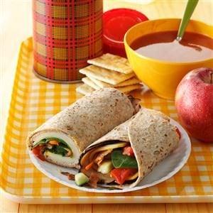Turkey Lunch-Box Wraps Recipe