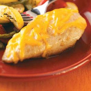 Cheese-Topped Lemon Chicken Breasts Recipe