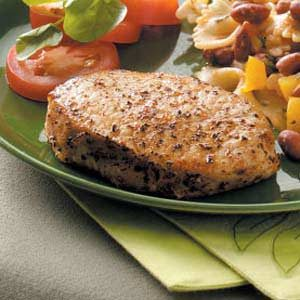 Basil Pork Chops Recipe
