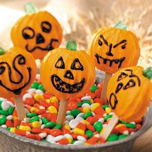 Pumpkin Cookie Pops