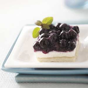 Blueberry Torte Squares Recipe