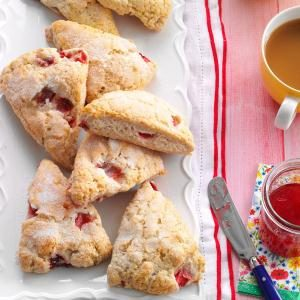 Strawberries 'n' Cream Scones Recipe