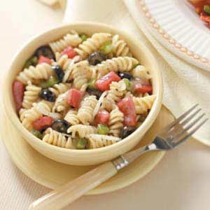 Spiral Pasta Salad with Marjoram Vinaigrette Recipe