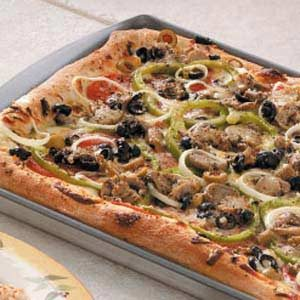 Olive Veggie Pizza Recipe