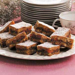 Candied Orange Date Bars Recipe