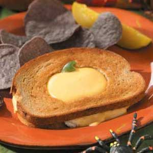 Halloween Tuna Cheese Melts Recipe