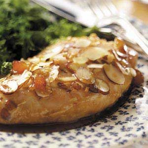 Almond Chicken with Apricot Sauce Recipe