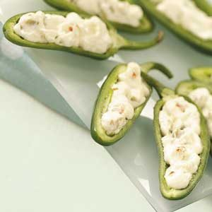 Jalapenos with Olive-Cream Filling Recipe