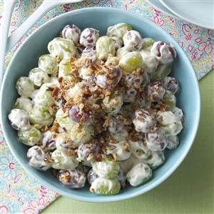 Menu #2 Salad: Creamy Grape Salad