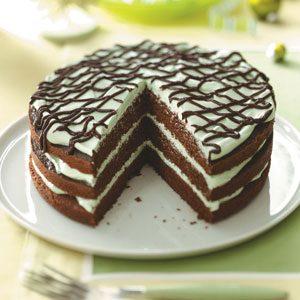 Mint Chocolate Torte Recipe