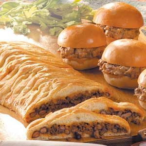 Beef 'n' Bean Braid Recipe