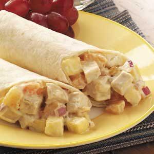 Fruity Chicken Wraps Recipe