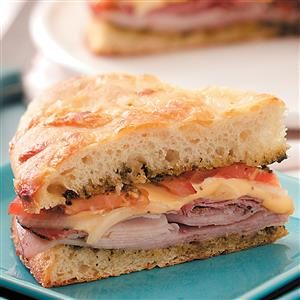 Baked Deli Focaccia Sandwich Recipe
