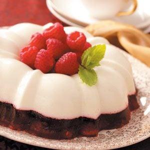 Snowy Raspberry Gelatin Mold Recipe