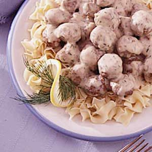 Meatballs in Dill Cream Sauce