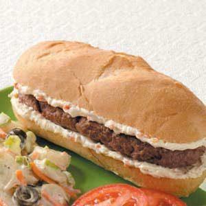 Hamburger Hoagies Recipe