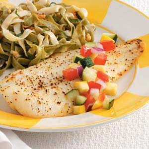 Orange Roughy with Cucumber Salsa Recipe