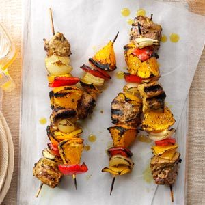 Curried Pork & Orange Kabobs