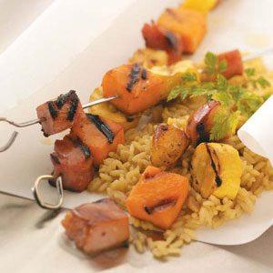 Ham & Sweet Potato Kabobs Recipe