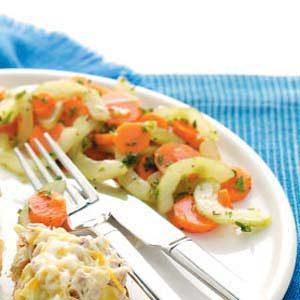 Gingered Cucumber-Carrot Salad Recipe