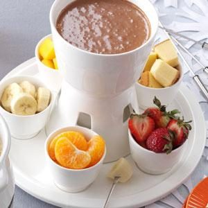 Chocolate Almond Fondue Recipe photo by Taste of Home