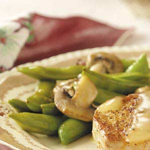 Snap Peas 'n' Mushrooms Recipe