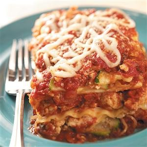 Turkey 'n' Squash Lasagna Recipe