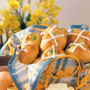 Candied-Fruit Hot Cross Buns Recipe