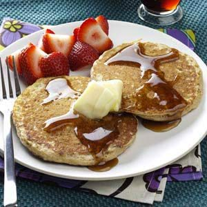Brown Sugar Oatmeal Pancakes Recipe