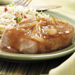 Pork Chops with Onion Gravy Recipe