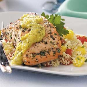 Mango Couscous with Salmon Recipe
